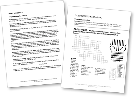 HomeTouch Adult Devotionals and Activity Page Set 1